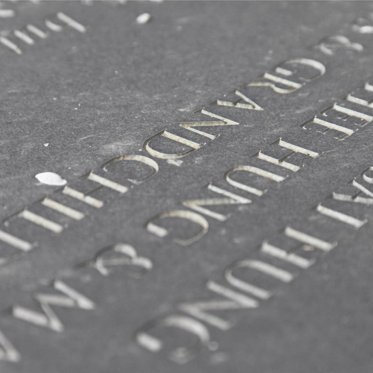 carved memorials
