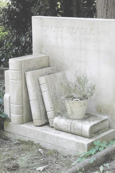 Book gravestone