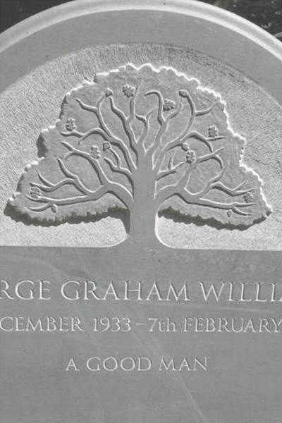 Oak tree headstone