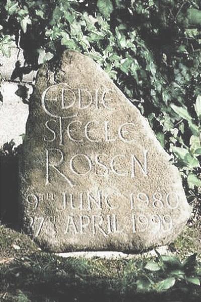 Stone grave marker